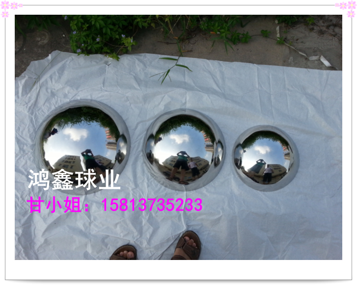 Hémisphère en acier inoxydable les sphères creuses demi-sphère décorative marque d'assurance vie en chine