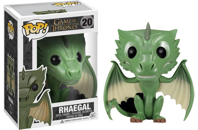 Exclusive Funko pop Official Game of Thrones - Rhaegal Dragon Vinyl Action Figure Collectible Model Toy with Original Box funko pop official movies moana maui pvc action figure toys 2017 new 100% original pop toy for children baby gift comes with box