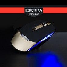 Компьютерные периферийные устройства USB 2,4 ГГц Беспроводная игровая мышка 1600 dpi Профессиональный геймер для ПК и ноутбука ультратонкая Bluetooth мышь