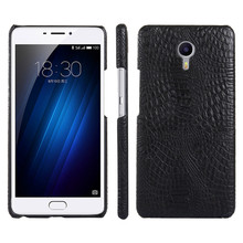 Meizu M3 Max Case Crocodile Grain Hard PC with PU Leather Ba