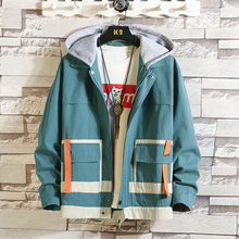 Casual England Style New 2019 Spring Autumn Jacket Men Brand Clothes Plus Asian Size M-5XL With Hoodies(China)