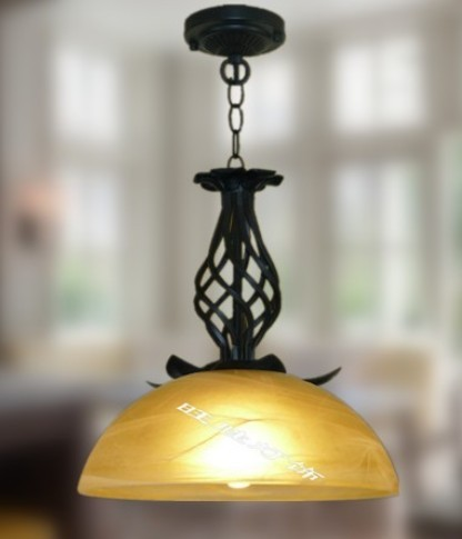 Dining Room Lamp Lie \ Coloured NEW 2PCS Head Droplight Rural Glaze  Painting Frosted Glass Craft, Wrought Iron Lamp ZCL In Pendant Lights From  Lights ...