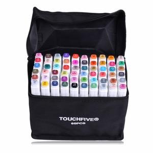 Художественный маркер для рисования, набор ручек TOUCH FIVE 40 60 80 168 цветов, спиртовая графика, эскиз, двойной маркер, ручка, подарок, альбом для ри...