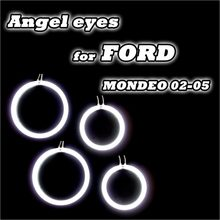 2016 NEW 4PCS/set 6500K white CCFL angel eyes drl kits For Ford MONDEO 02-05 car styling accessories daytime running lamp
