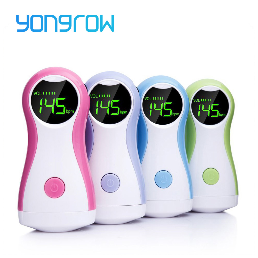 Yongrow Fetal Doppler Baby Monitor LCD Display Portable Baby Heart Rate Monitor With Earphone YK-90C For Pregnant Women