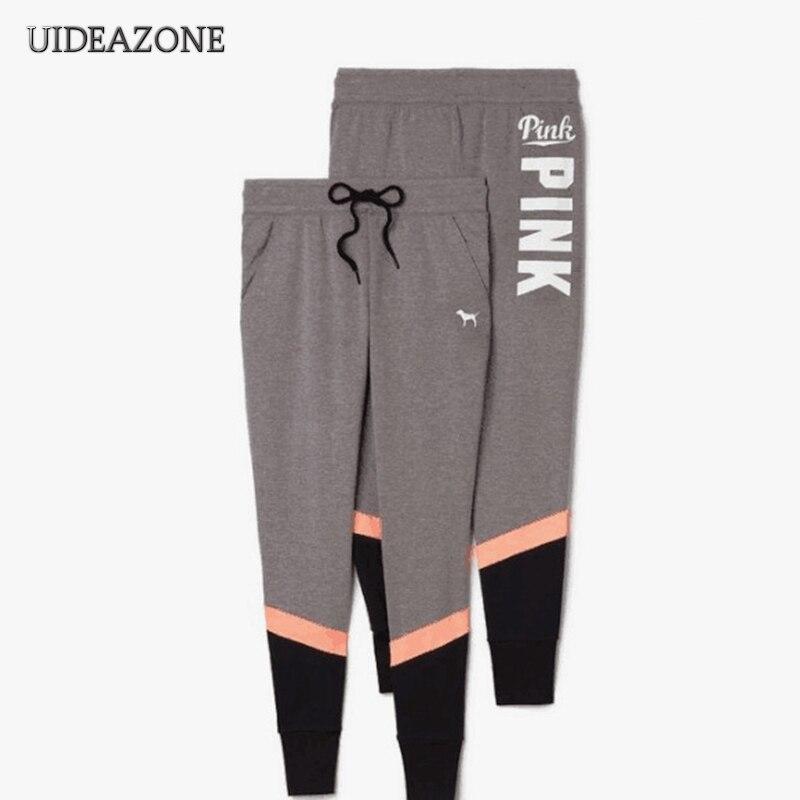 2018 Women VS Pink Letter Print Workout Pants Women Slim Fitness   Legging   Sporting Adventure Time Trouser S-2XL Dropship