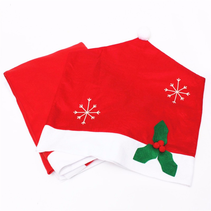1pcs Santa Claus Hat Chair Covers Christmas Dinner Table Party