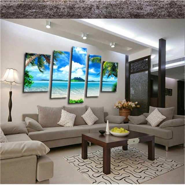 High Quality 3D Modern Home Decor Oil Painting Canvas Landscape
