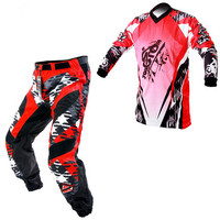 1 set Customized Moto Protective Gear downhill mtb motocross jersey and pants Men M,L,XL, XXL,3XL