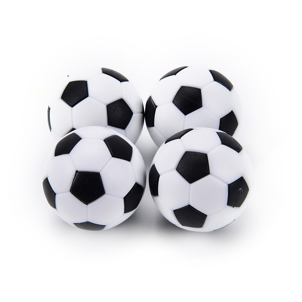 4 Pcs 32mm Table Football Ball White Black Plastic Soccer Football Mini Ball Soccer Round Indoor Games Machine Parts image
