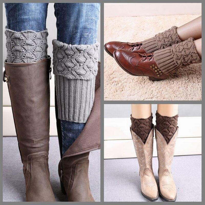 Underwear & Sleepwears Knitting Women Leg Warmers Winter Thick Fleece Boot Socks Warm Boot Cuffs Ladies Leg Warmer Boot Toppers