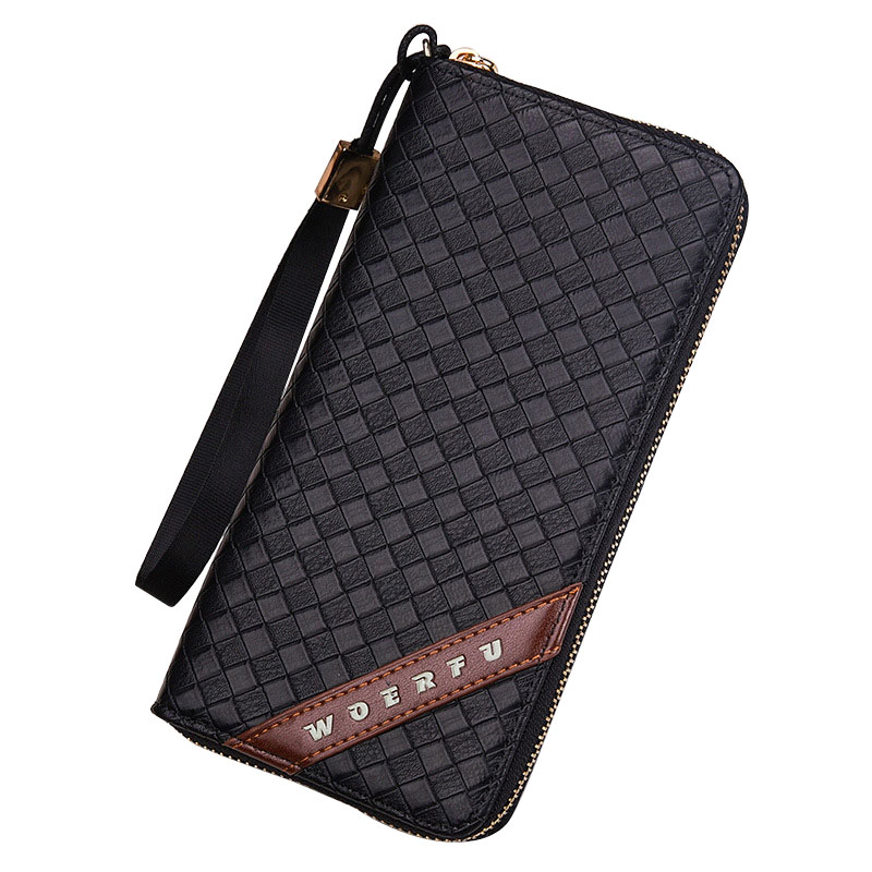 2017 Fashion Style Business Man Wallet Brand Leather Purse Card Holder Male Wallets Long Clutch Purses for Men new arrival 2017 wallet long vintage man wallets soft leather purse clutch designer card holders business handbags clips