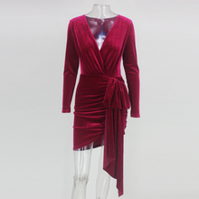 98954b2ede973 Buy red dress velvet and get free shipping on AliExpress.com