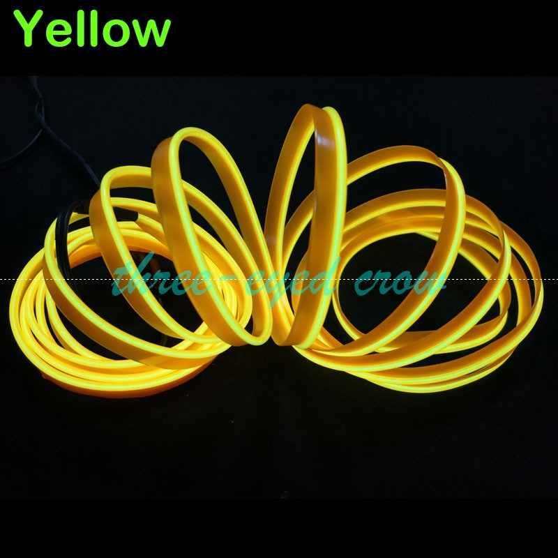 1 m 2 m 3 m 5 m 9 mét May Cạnh Neon Ánh Sáng Dance Party Xe Decor Ánh Sáng Neon Linh Hoạt EL Wire Rope Ống LED Strip Với DC12V cắm