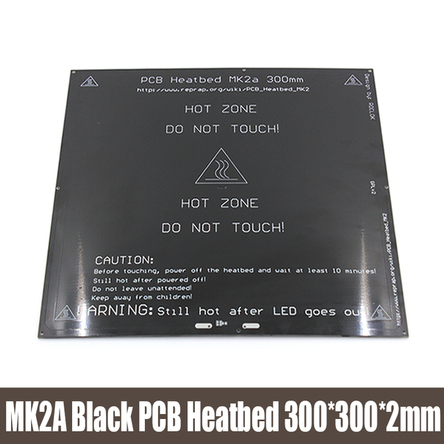 3D printer heatbed MK2A 300*300*2.0mm 12v RepRap RAMPS 1.4 PCB  Heatbed Hot Plate For Prusa & Mendel For 3D Printer MK2B
