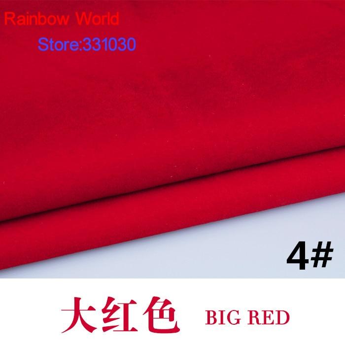 4 red 1 meter flocked flocking fabric for diy sofa pillow for Sofa 4 meter