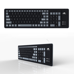 Image 4 - New Foldable Silicone Keyboard USB Wired Silicon Flexible Soft Waterproof Roll Up Silica Gel Keyboard for PC Laptop Notebook