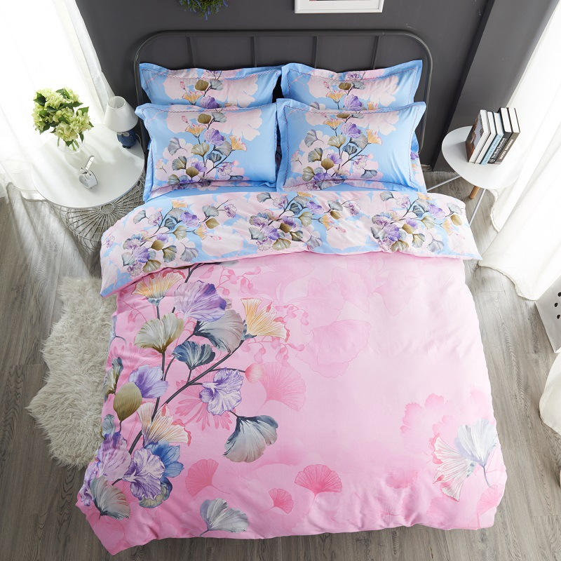 New Fashion Beautiful Bed Set 4 unids Bedding Set Soft Comfortable Bedding Multiple Color Printing Bedding Home Textiles