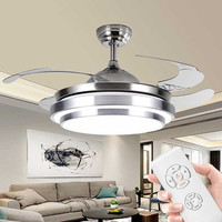 Remote control ceiling fan with light for Living room Bedroom Kitchen Restaurant ventilator lamp modern leaf ceiling light
