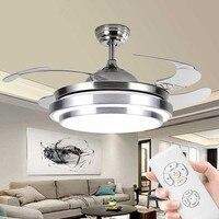 Remote control ceiling fan with light for Living room Bedroom Kitchen Restaurant ventilator lamp modern leaf ceiling light