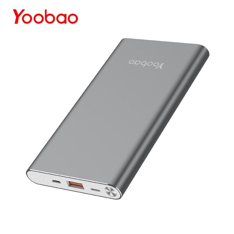 Yoobao A1 Power Bank 10000mAh  Ultra Slim External Battery Universal Portable Powerbank For IPhone Xiaomi Samsung  Huawei
