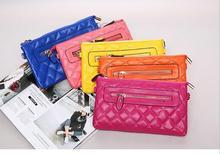 Freies Verschiffen Frauen Brieftasche Fashion echtes Leder Dame lange Kupplung Taschen Marke Stile Geldbörse Kartenhalter Geburtstag Party Geschenk