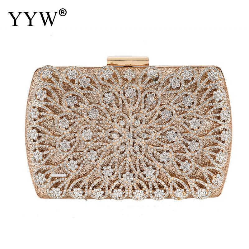 Lady Diamond Wedding Evening Women Clutch Round Bag Fashion Purses And Handbags Crossbody Party Shoulder Bags Gold Silver Black