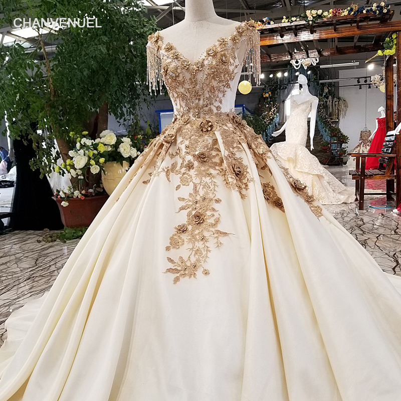 LS32470 golden flowers simple evening dress v neck cap sleeve lace up keyhole back satin dress 2018 with beadings for sexy girl