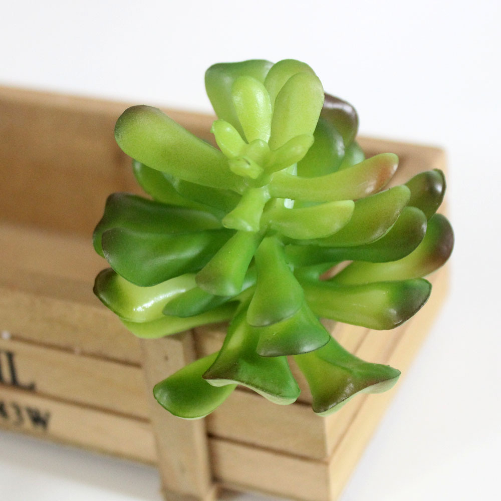 Mini Artificial Succulent Plants For Home Decoration Green Plastic Faux Cactus Succulents Simulation For Diy Arrangements in Artificial Dried Flowers from Home Garden