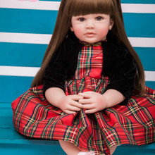 60cm Silicone Reborn Baby Doll Toys 24inch Vinyl Princess Toddler Girl Babies Doll High Quality Birt