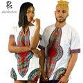 2016 лето африканская одежда сращивание dashiki батик воск печати короткая рукавом пары одеваться майка мужчины и женщины могут носить