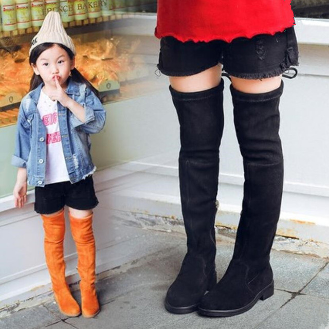 cf0d1ea0071 Koovan Girls  Over Knee Boots Girl Shoes Knee Fashion Children Boots 2018  Autumn And Winter Princess Girls Students Mama Shoes