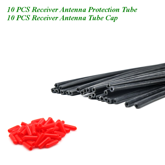 20 piezas 150mm receptor antena tubo de protección con tubo tapa fijo tubo apantallado tubo para Frsky Flysky FPV Racing drone