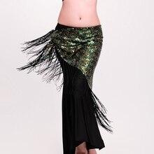 Дизайн, Блестящий Пояс для танца живота с блестками, шарф для танца живота с кисточками: узор павлина