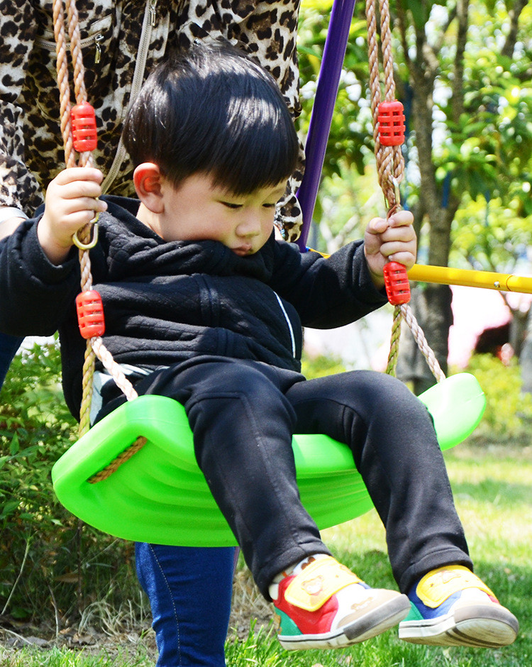 Hot Baby Swing Children Kids Swing Hanging Chair Outdoor Rocking Garden Seat Plate Lanyard Hammock new kids pod swing chair nook hanging seat hammock nest for indoor and outdoor use great for children kids 7 types