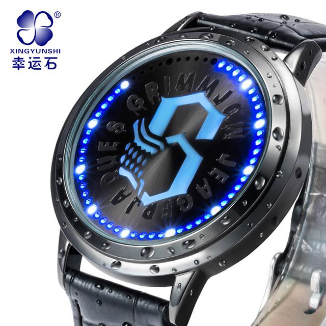 Xingyunshi Multifunción Deportes de Los Hombres Relojes de Pulsera de Cuero Correa de Los Hombres de Primeras Marcas de Lujo led Digital Reloj Chico Reloj