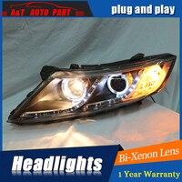 Новый глава Лампы для стайлинга автомобилей для Kia K5 фары 2011 2014 Для Kia Optima би ксенон объектив h7 ксенон СИД drl hid головка набора свет