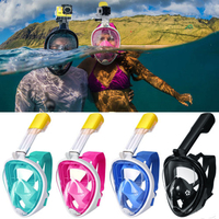 2018 Mask Scuba Full Face Snorkel Mask Underwater Diving Anti Fog Set Snorkeling Children Kid Swimming