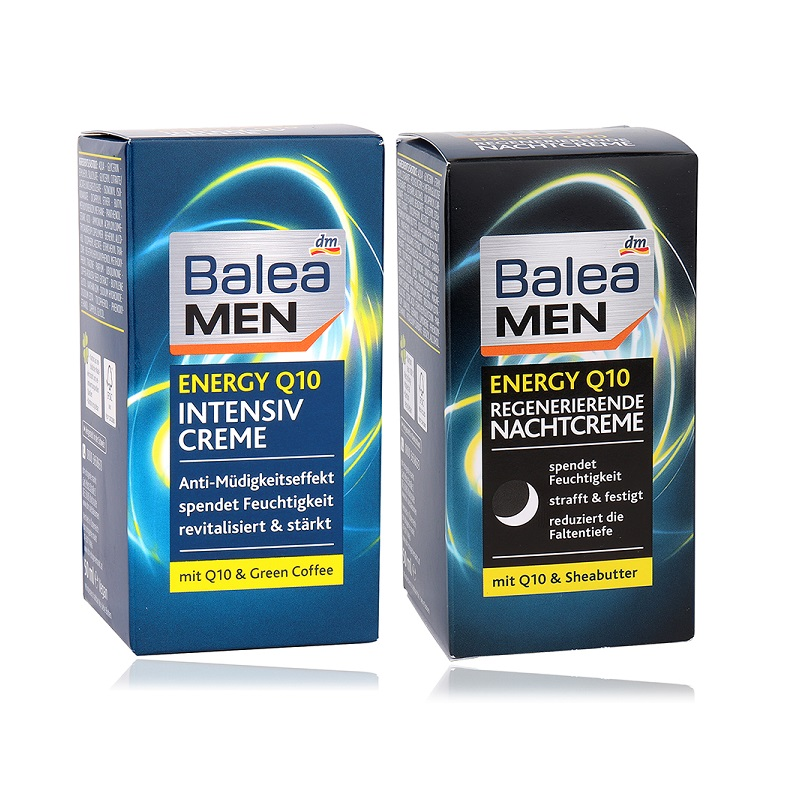 100%Germany Balea Men Q10 Energy Day Night Face Cream Green Coffee Powerful Antioxidant Improve Skin Elasticity Moisture Essence