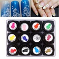 12Bottles/Set Nail Gel UV Gel Polish Manicure Acrylic 3D Sculptured Carved Drawing Paint Decoration Nail Art Decoration