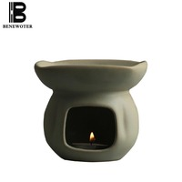 Japanese Style Vintage Handmade Coarse Pottery Aroma Burners Ceramic Essential Oil Lamp Candle Heating Incense Burner Home Decor