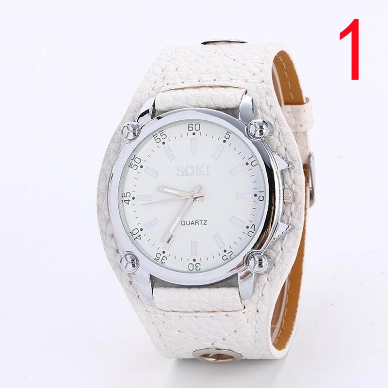 wu's watch male student big dial waterproof casual belt fashion trend quartz watch цена и фото