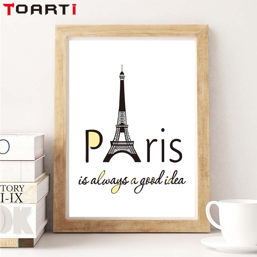 Canvas Design Ideas lea lawson creates lil inker designs mini canvas easel mixed media inspiration Traveling Paris Always A Good Idea Quote Canvas Print Poster Home Decor For Living Room Office Eiffel Tower Design Wall Painting