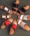 Мода женская обувь туфли на высоком каблуке толстый каблук открытым носком краткие женские сандалии натуральная кожа овчины сандалии бесплатно доставка
