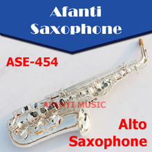 Afanti Music Eb tone / Nickel Plated/ Silvering Alto Saxophone (ASE-454)