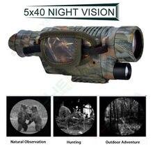 BOBLOV 5X40 Цифровой Инфракрасный ночного видения очки Монокуляр 200 м Диапазон видео DVR изображений для охоты камеры устройства