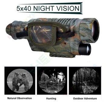 BOBLOV 5X40 الرقمية الأشعة تحت الحمراء للرؤية الليلية حملق أحادي 200 متر المدى فيديو DVR التصوير للصيد كاميرا جهاز