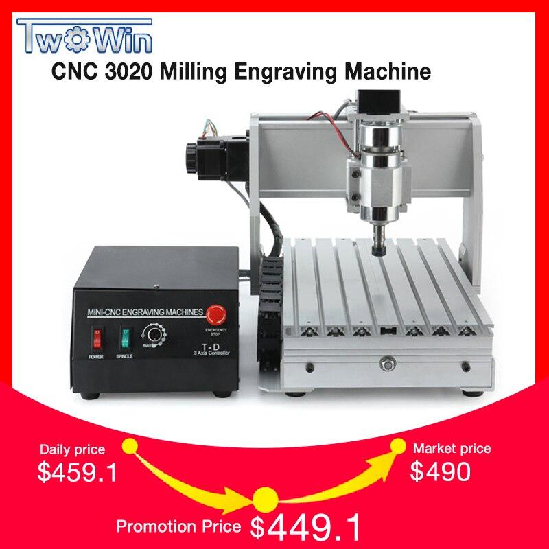 CNC USB Laptop 3 CNC3020B Eixo CNC Router CNC 3020 Eixo 300 w CNC máquina de Moagem de máquina 110 v 220 v