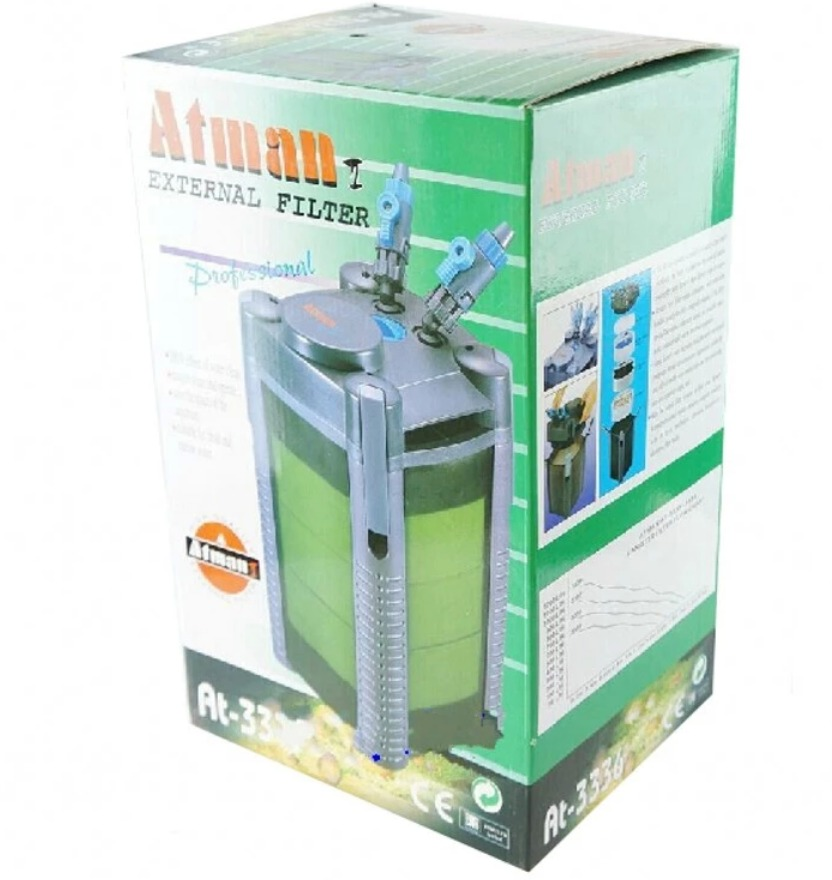 atman aquarium canister external filter at 3336 easy install for 150 liter tank in filters. Black Bedroom Furniture Sets. Home Design Ideas