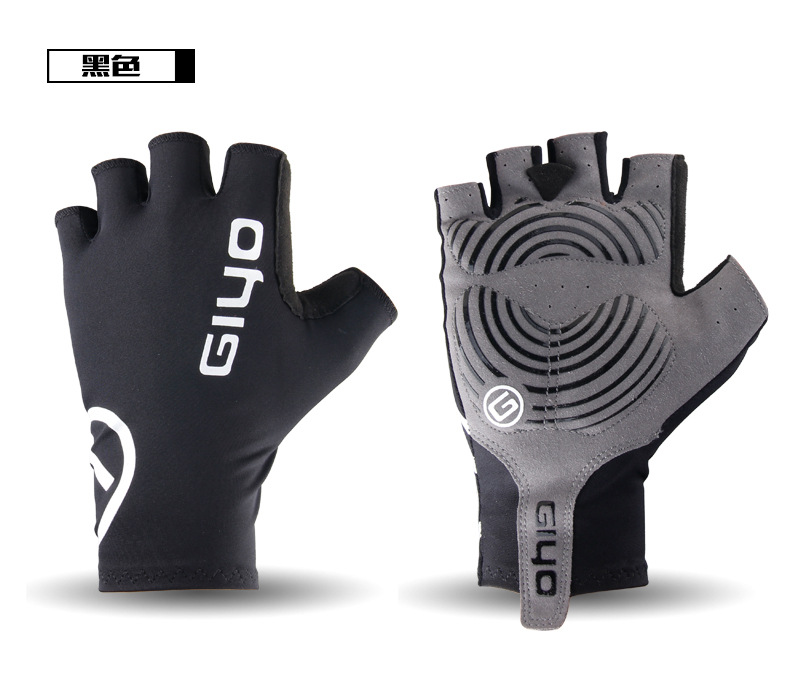 Outdoor sports gloves half finger road mountain bike riding gloves half finger short finger gloves equipment in Hiking Gloves from Sports Entertainment